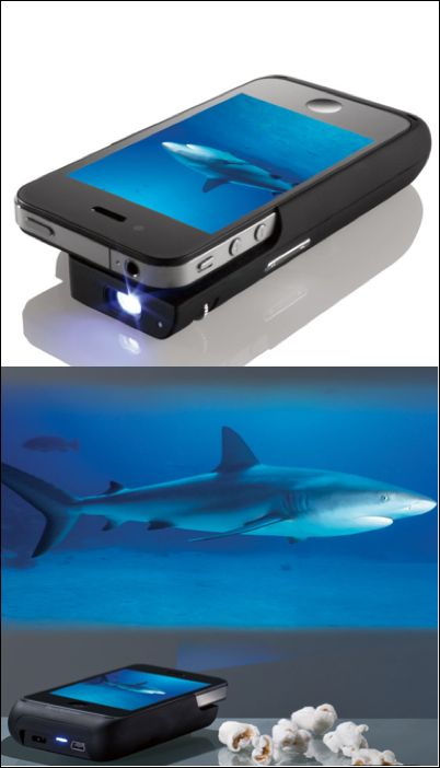 projector attachment for the iphone. Thought this was cool even though I don't have an iphone