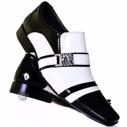 Sapato Social Masculino Luxo Couro Stilo Italiano Bico Fino - R$ 154,90