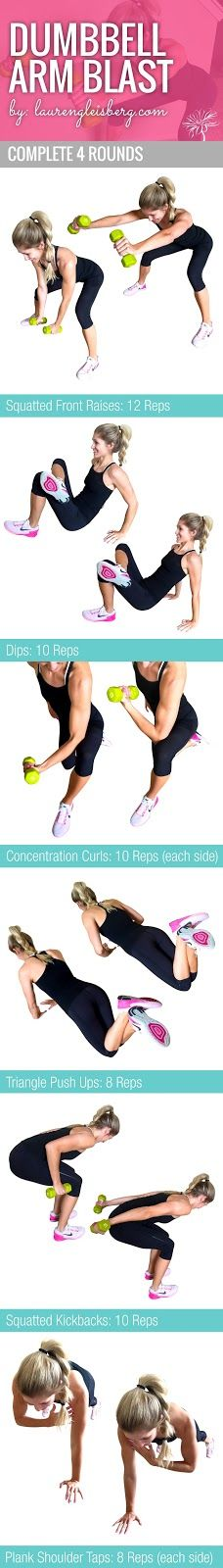 Arm Circuit To Tighten & Tone | click image for full workout plans by LaurenGleisberg.com