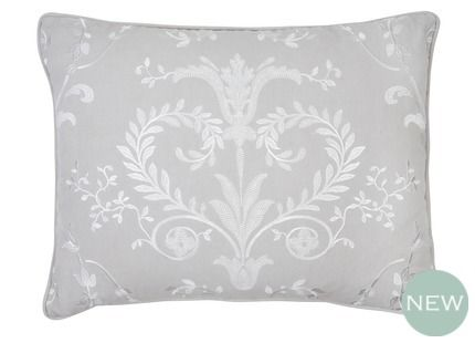 Josette Dove Grey Cushion Our fabulous Josette embroidered cushion in dove grey brings a touch of chateau elegance to the home.