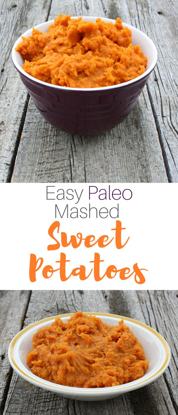 Paleo Mashed Sweet Potatoes Recipe. Super easy recipe, only 4 ingredients! So good and it's paleo, vegan, gluten-free, dairy-free. #ad