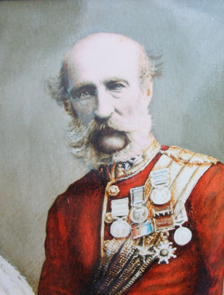 General George Campbell of Inverneill CB, commander of the Royal Artillery from 1874.