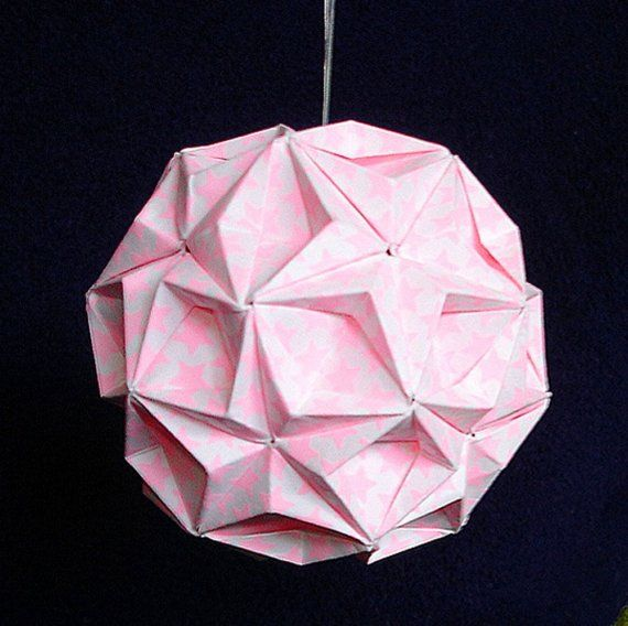 Glow In The Dark Origami Ball by FANSHEFOLDS on Etsy, $30.00