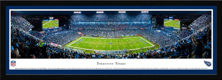 Tennessee Titans Panoramic Picture - Nissan Stadium - Select Frame $149.95