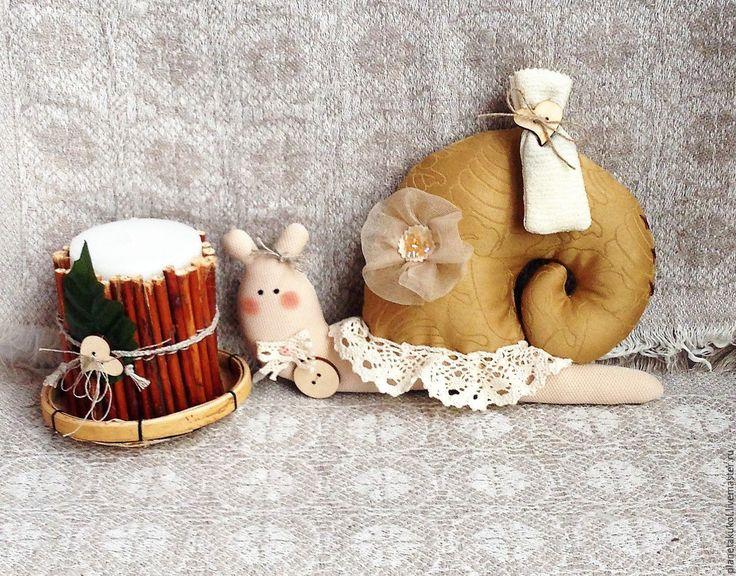 Купить Улиточка Тильда кофейная - улитка, улитка Тильда, улитка в подарок, улиточка, улитка текстильная