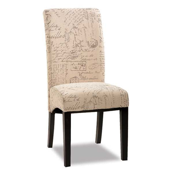 Artistic And Elegant Parsons Chair Script Fabric By Anji Furniture Light With Graceful Style Makes This A Accent For Your Dining Set