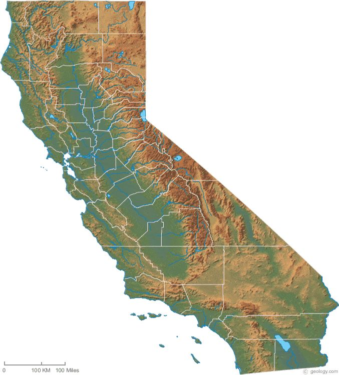 California physical map
