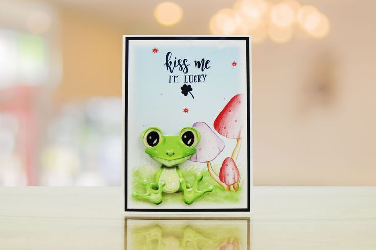 Sample card from the Chocolate collection by Tattered Lace featuring cutie animals!