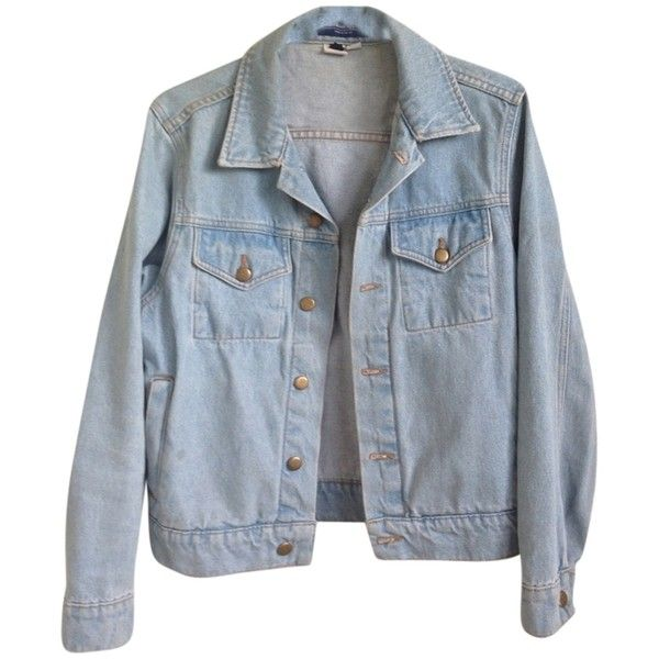 Pre-owned American Apparel Light Blue Jean Jacket ($87) ❤ liked on Polyvore featuring outerwear, jackets, tops, coats, light blue, jean jacket, light blue jacket, american apparel, blue denim jacket and blue jackets