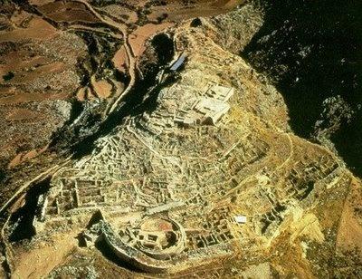 Imagen aérea de Micenas.