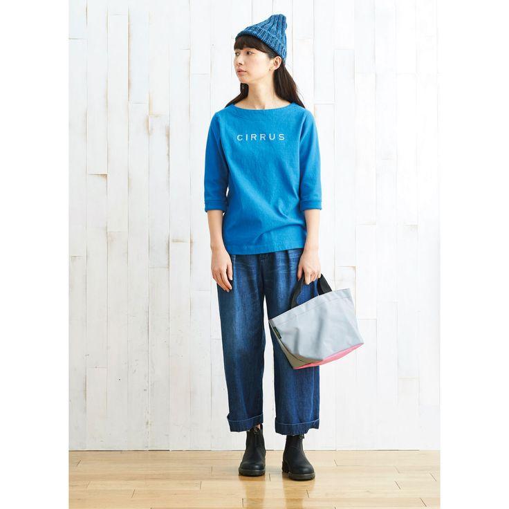 サニークラウズ しらす雲Tシャツ〈レディース〉青|フェリシモ