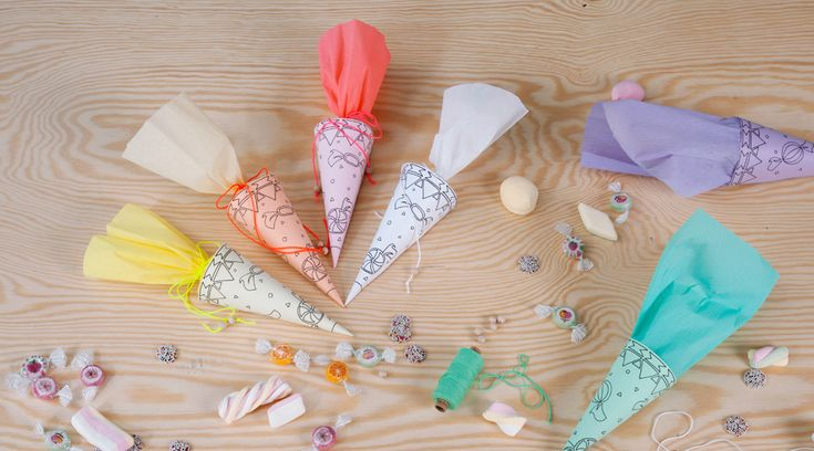 WLKMNDYS // Lucky Friday Printables // Mini Zuckertüten // Candy Cones