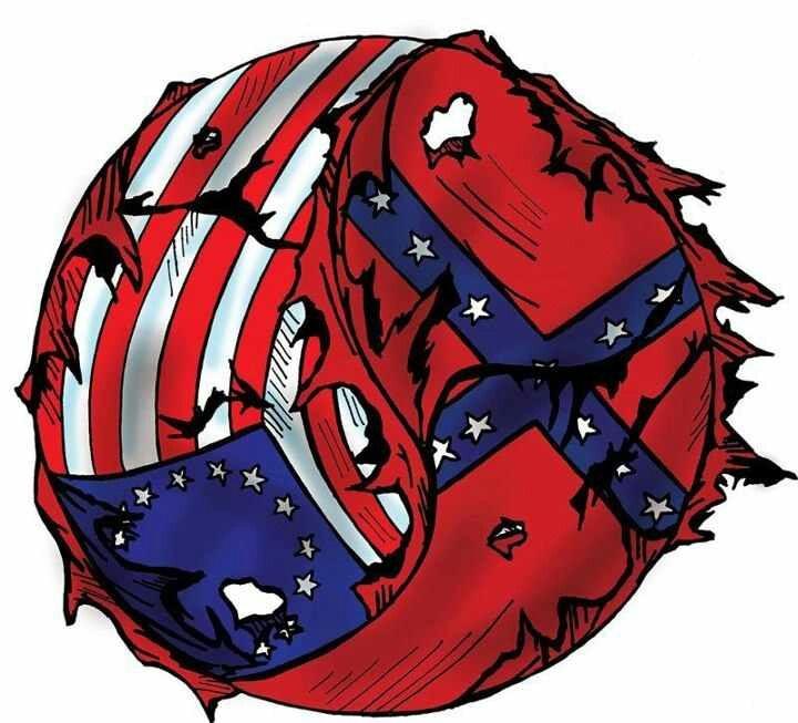 U s rebel ying yang confederate flag stuff pinterest for Southern designs