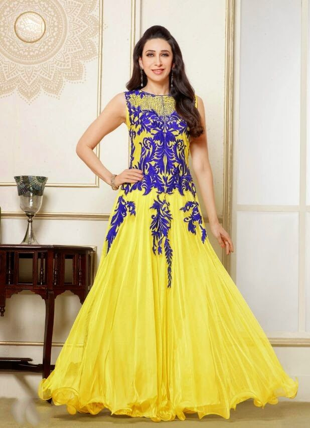 Shop Yellow Embroidered Georgette Anarkali Suit by Monsoon Dhamaka online. Largest collection of Latest Anarkalis online. ✻ 100% Genuine Products ✻ Easy Returns ✻ Timely Delivery