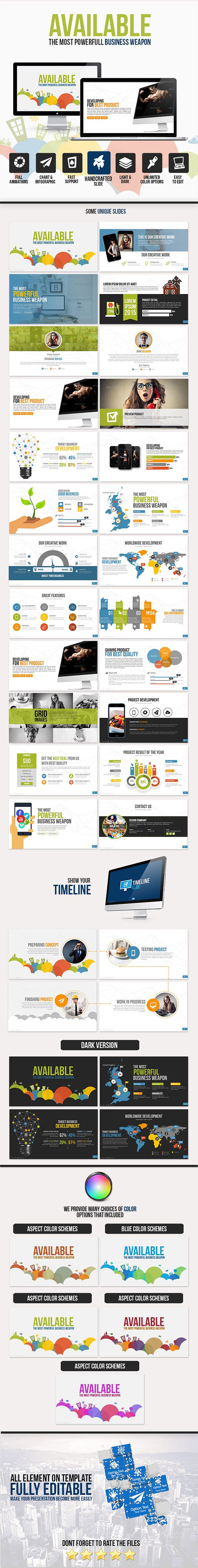 Available PowerPoint Template #design #slides Download: http://graphicriver.net/item/available-powerpoint-template/10924156?ref=ksioks