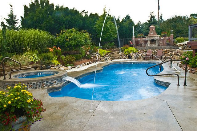 309 best images about outdoors on pinterest outdoor patios fire pits and outdoor living - Free form swimming pool designs ...
