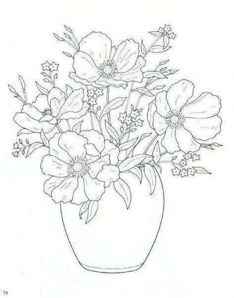Картинки карандашом цветы в вазе, анимация