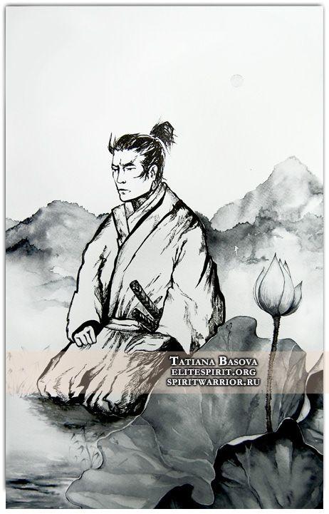 Sword Meditation Master Bushido Samurai Interior Art Print ...