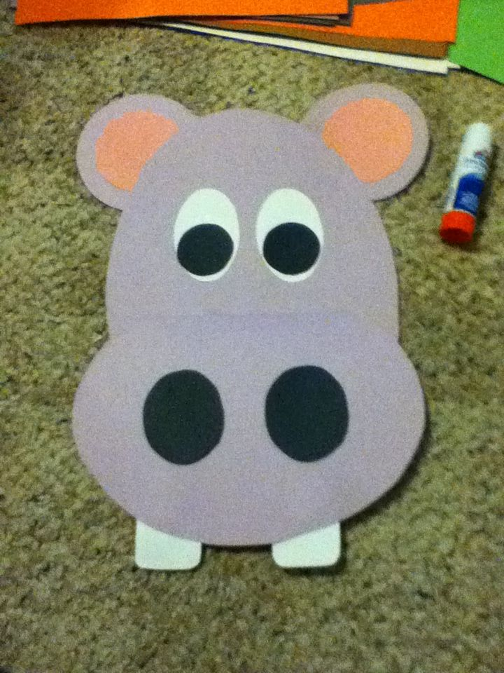 This hippo pattern is part of a set of animals for the 5 classes of animals.  It's mouth opens up so you can write facts about hippos or mammals in it!  Super cute!