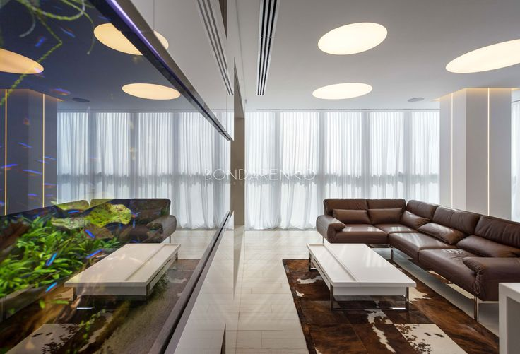 #BondarenkoDesign #Аквариум #Дизайн гостиной