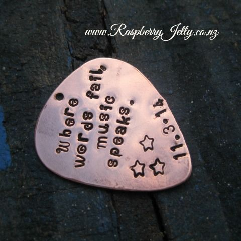 Perfect for the Music Lover in your life, this Guitar Pick is an awesome gift.