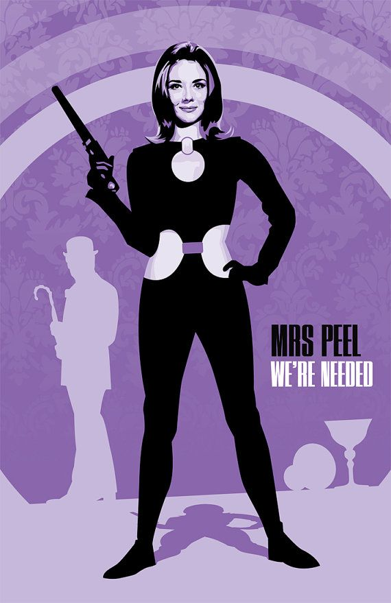 WAY TOO COOL FOR WORDS!  Emma Peel  The Avengers  17 x 11 Digital Print by DadManCult, $12.99