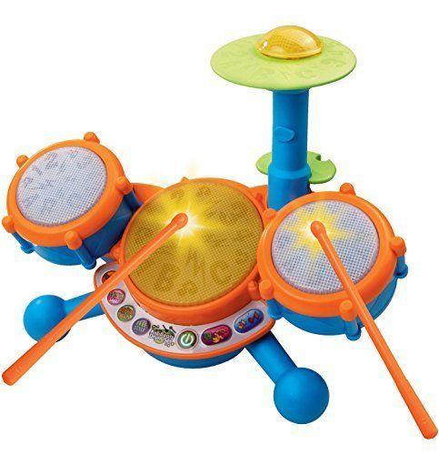 Kids Drum Set Learning Toy Educational Christmas Gift Music Kit Boys Girls New #VTech