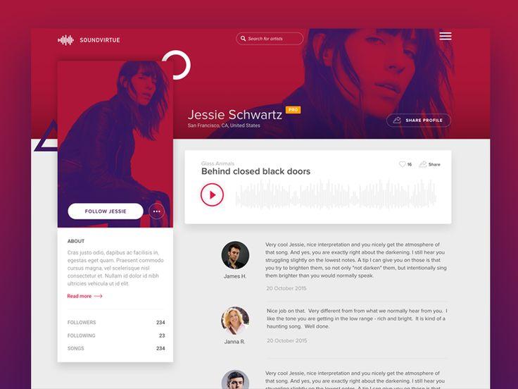 50 User profile page—Design Inspiration