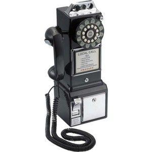Comprar online Teléfono Pared Retro Negro en Natural Smell