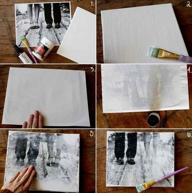 Transfer your favorite photo onto a canvas using a few easy steps.