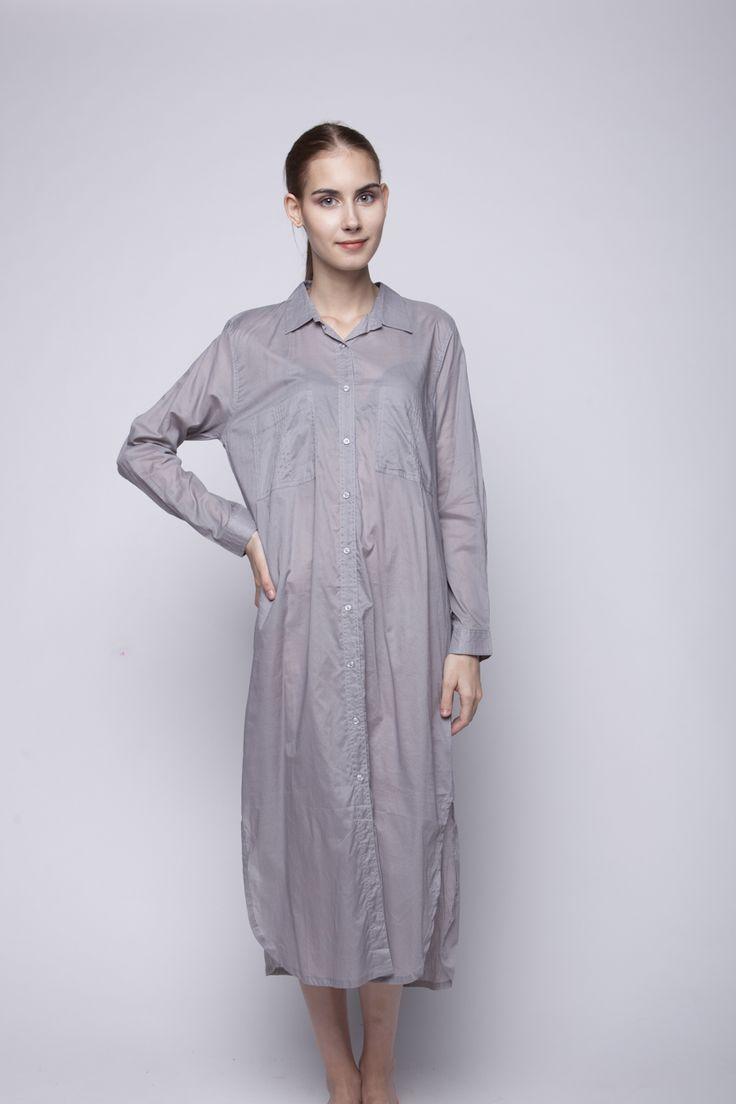 Jenara Shirt Dress Grey   Rp 221.250