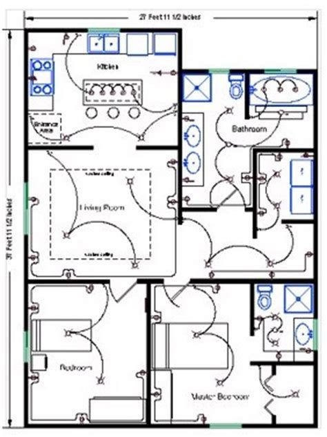 Résultat d'images pour electric cable wiring plan for open office on