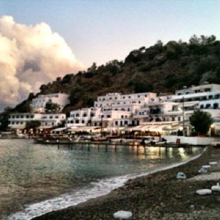 Loutro, Crete, Greece // Can only be reached by boat or foot. Perfect chillout & great food! www.loutro.com