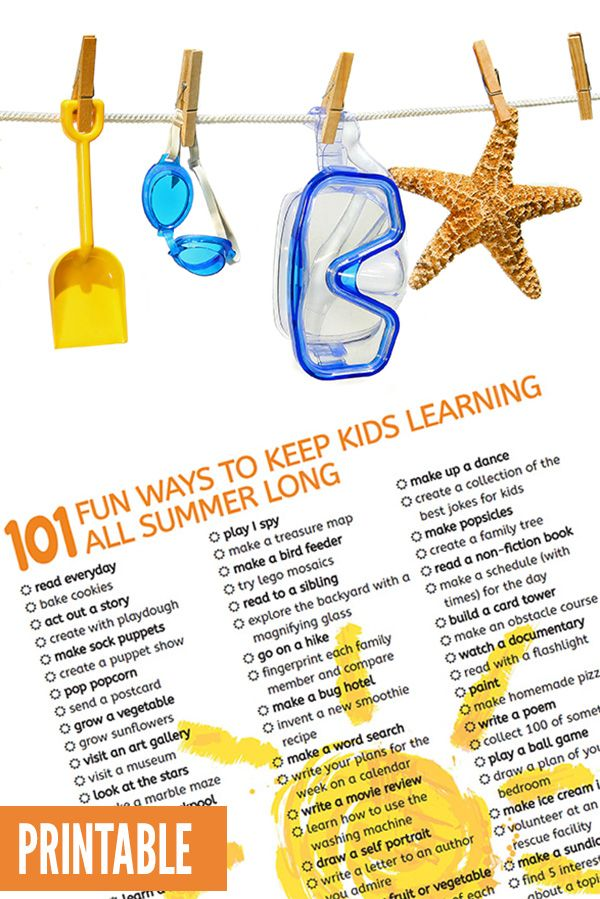 101 Awesome Summer Activities to Keep Kids Learning All