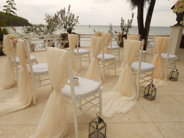 Pretty Way To Dress Up Ceremony Or Reception Chairs