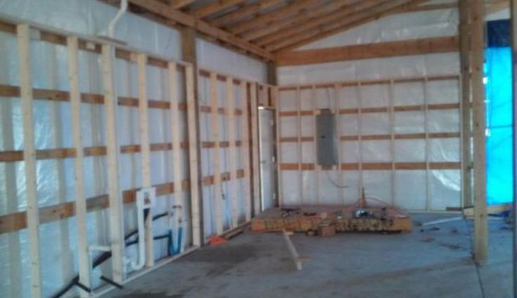 Barn project, light insulation, added R30 insulation prior to putting up walls.