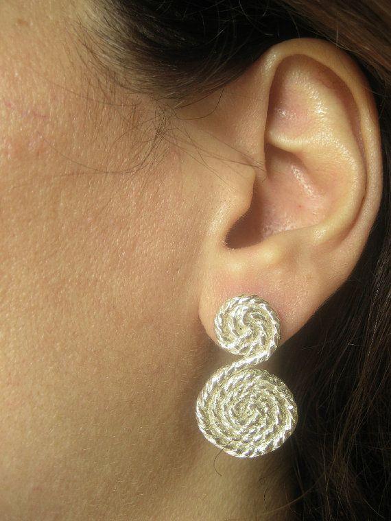 Greek spyra earrings Silver greek spyra earrings by TzenNikoletta
