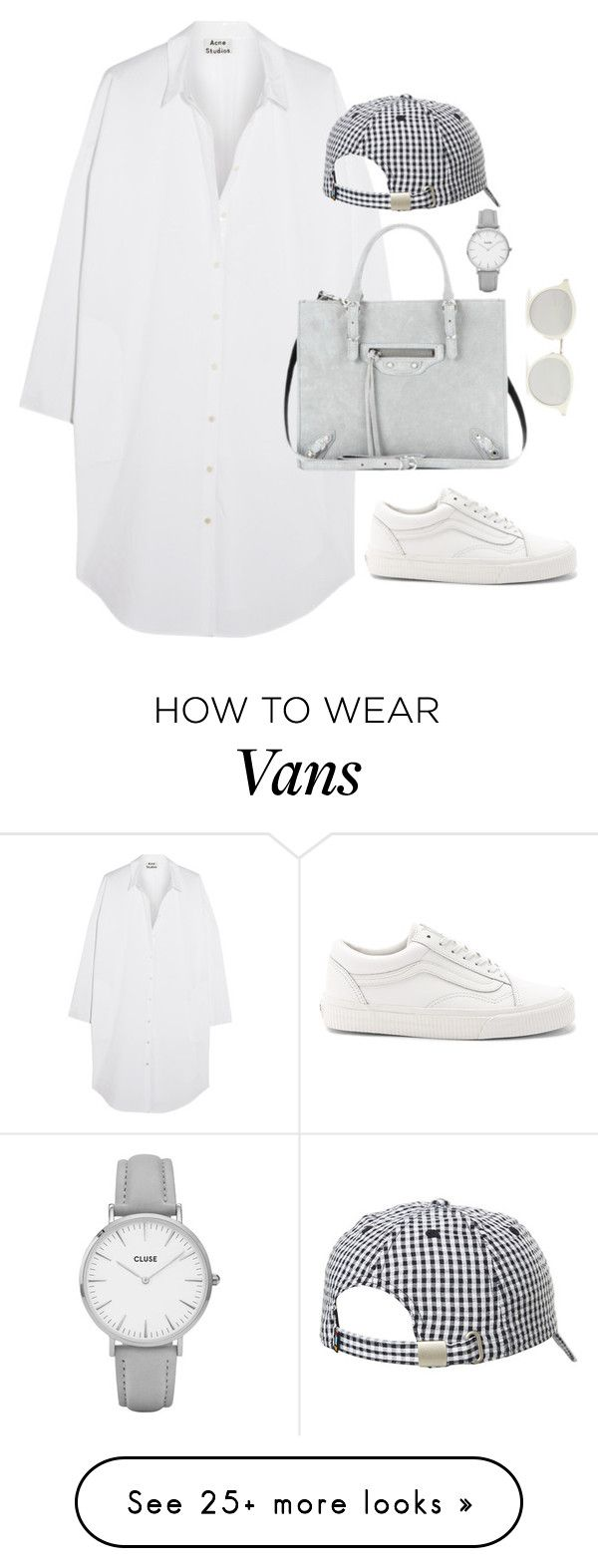"""Untitled #4605"" by magsmccray on Polyvore featuring Acne Studios, Balenciaga, Vans, Sundazed, CLUSE and Yves Saint Laurent"