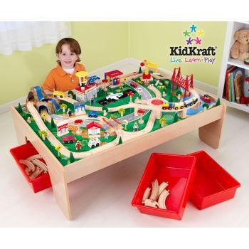 KidKraft® – Waterfall Mountain Train and Table Set