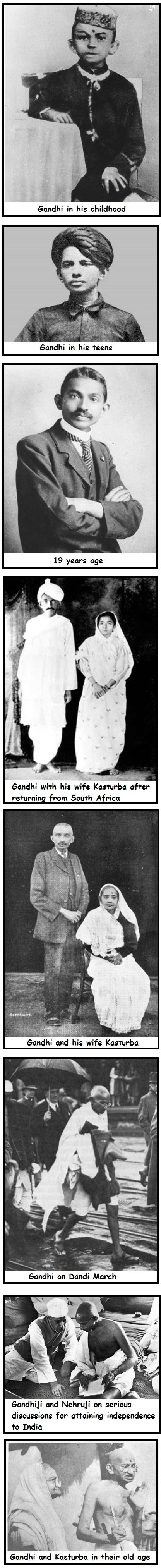 Mahatma Gandhi Photos - Child to Senior