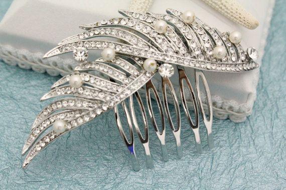 Pièce de cheveux de mariée, peigne à cheveux perle mariage, Accessoires cheveux de mariage, morceau de cheveux mariage, bandeau de mariage, pearl peigne mariée, accessoire de mariage