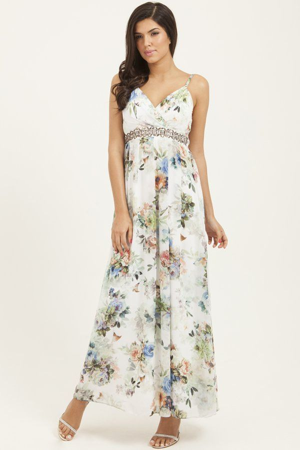 Ladies Little Mistress Flower Maxi Dress