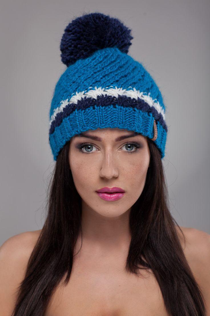 Ulter czapki - Model 24 #ulter #caps #woll #winter #inspiration #fashion