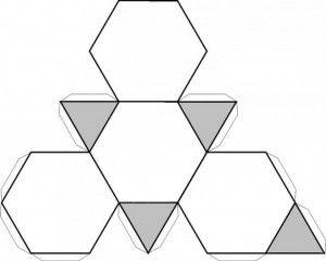 Tetrahedro truncado.recortable figuras geometricas bidimensionales