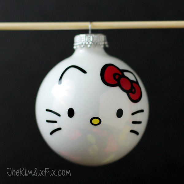 82 best treps images on pinterest christmas diy christmas ideas easy diy hello kitty ornaments solutioingenieria Image collections