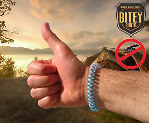 Natural Mosquito Repellent Bracelets, No Deet Pest Control Repeller, Best for Indoor, Outdoor Against Mosquitoes & Gnats Bites - 6 BiteyShield Bands for Adults, Kids and Babies - Protect Your Family Now!