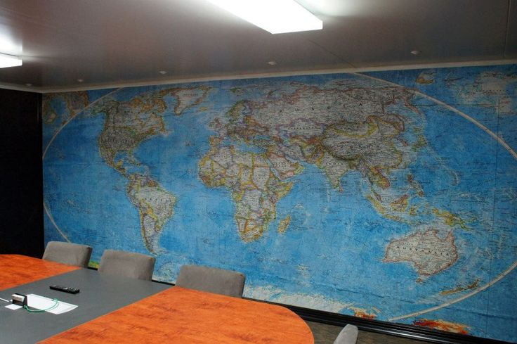 Conference room wall decor idea