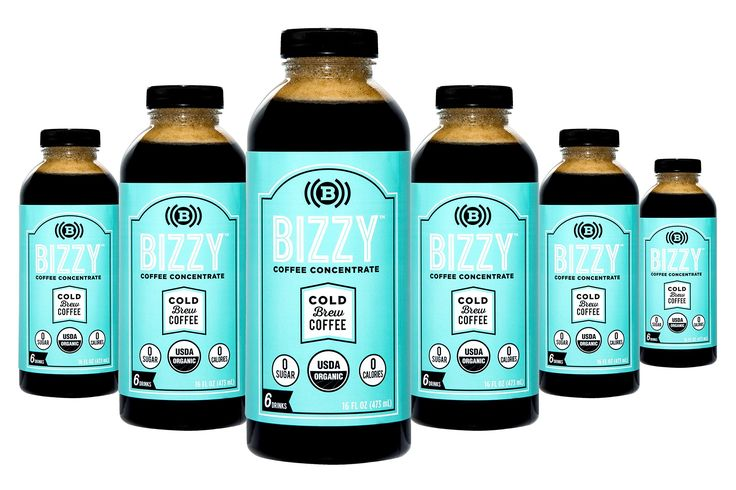 Bizzy Cold Brew Coffee Concentrate USDA Organic, 72 Servings