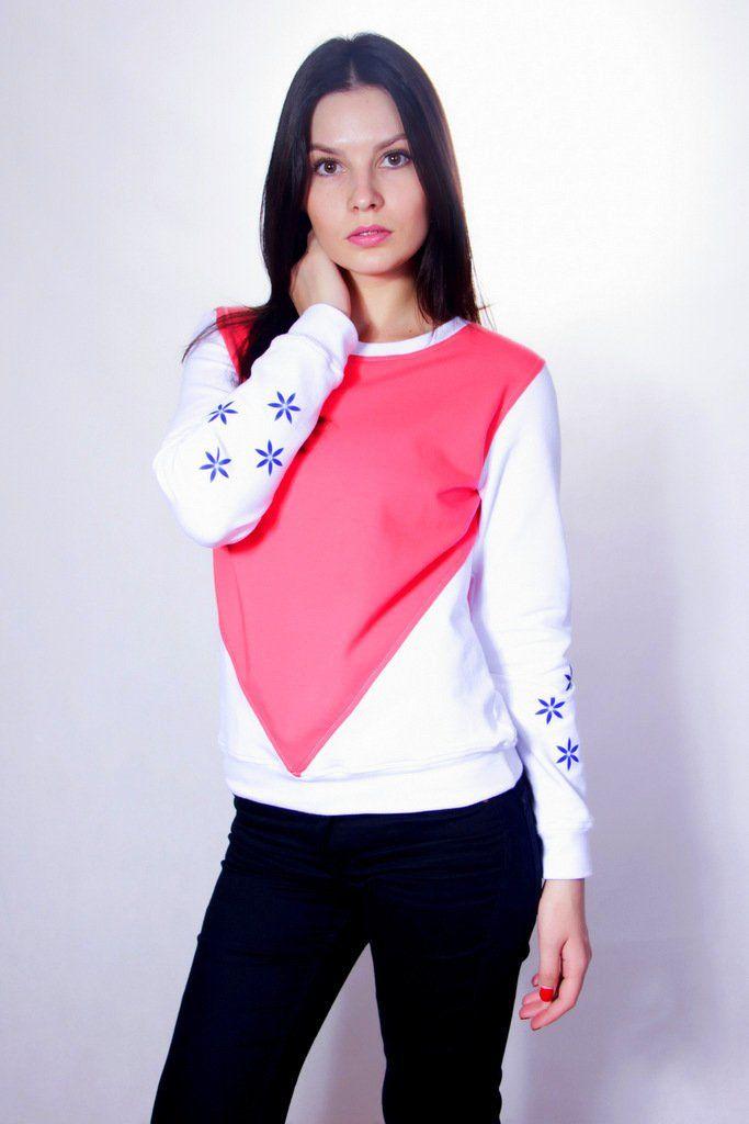 RASPBERRY  WHITE  L  bluza z grafiką odblaskową (sprzedawca: LUMI LAJT), do…