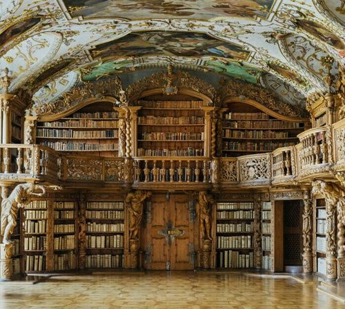 architecture,old library